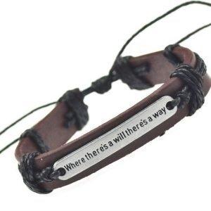 Äkta läder armband handgjord