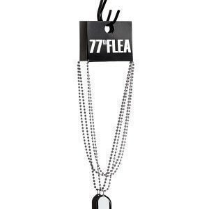 77thFLEA Finger necklace White/Black/Silver