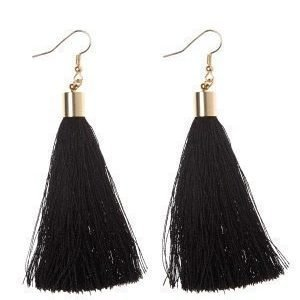 77thFLEA Tassels earrings Gold/Black