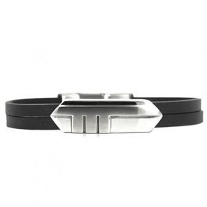 AROCK Brian Bracelet Steel/Leather