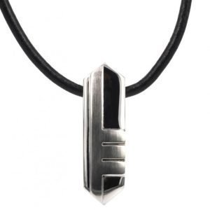AROCK Brian Necklace Steel/Leather