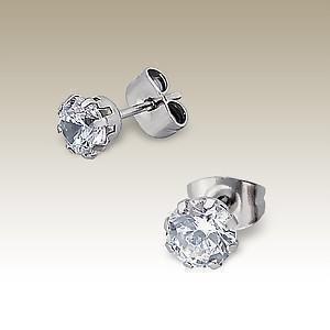 Absolut4u Korvakorut kristall 4 mm 2 par