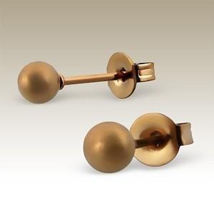 Absolut4u korvakorut kula matt bronze 4 mm