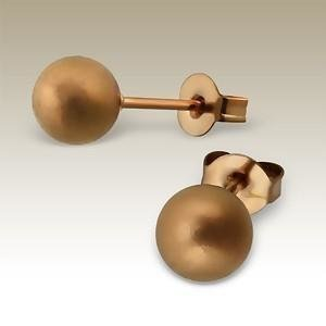 Absolut4u korvakorut kula matt bronze 6 mm