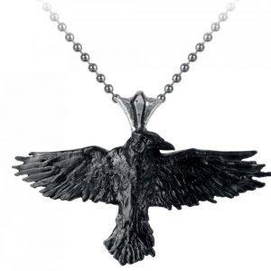 Alchemy Gothic Black Raven Riipus