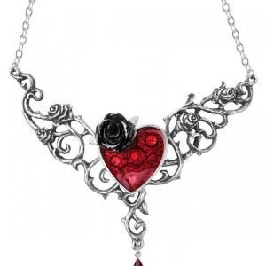 Alchemy Gothic Blood Rose Heart Kaulakoru