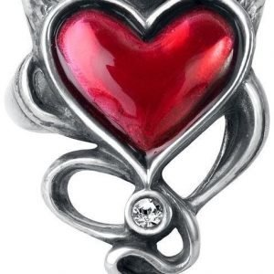 Alchemy Gothic Devil Heart Ring Sormus