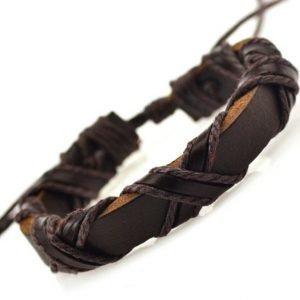 Armband Kryss äkta Läder Klass