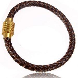 Armband Läder 6mm x 21cm svart läder Swejuwel