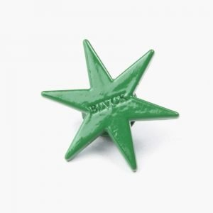 Black Scale Six Point Star Pin