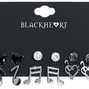 Blackheart Clefs & Music Korvanappisetti