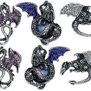 Blackheart Dragon Earrings Korvanappisetti
