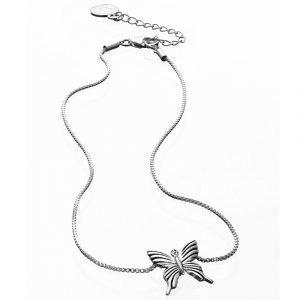 Carolina Gynning Butterfly Kaulakoru Child S Sterling Silver
