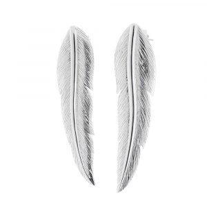 Carolina Gynning Feather Korvakoru Sterling Hopea