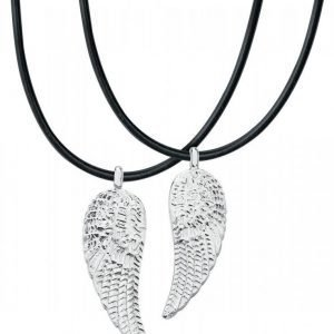Dark-Silver Angel's Wing Riipus