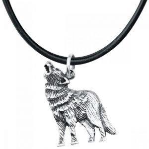 Dark-Silver Howling Wolf Riipus