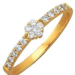 Diemer Diamant Briljanttisormus Valkoinen