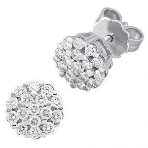 Diemer Diamant Korvakorut Valkoinen