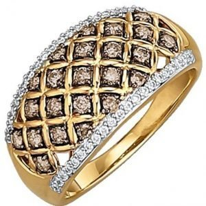 Diemer Diamant Naisten Briljanttisormus Kolmivärinen