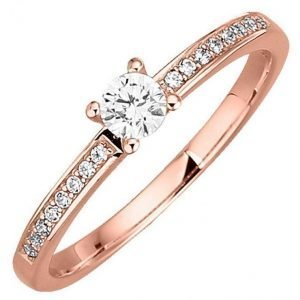 Diemer Diamant Naisten Briljanttisormus Valkoinen