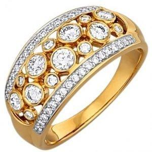 Diemer Diamant Naisten Sormus Kaksivärinen