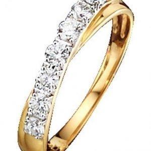 Diemer Diamant Naisten Timanttisormus Keltainen