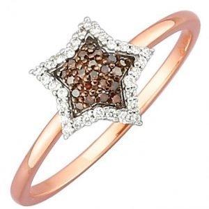 Diemer Diamant Sormus Ruskea