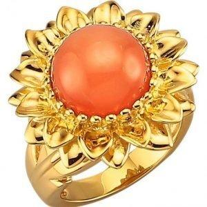 Diemer Farbstein Naisten Sormus Oranssi