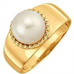 Diemer Perle Naisten Sormus Valkoinen