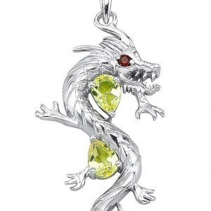 Diemer Silber Lohikäärmeriipus Vihreä