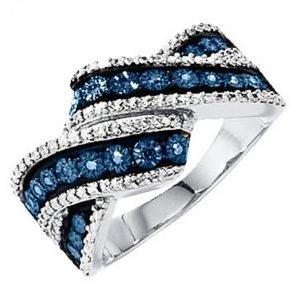 Diemer Silber Naisten Sormus Sininen