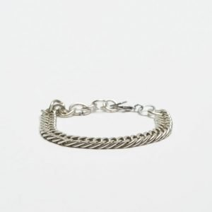 Double U Frenk Chains Silver Bracelet No. #02
