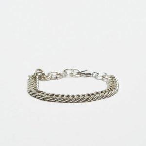Double U Frenk Chains Silver Bracelet No. #02