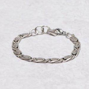 Double U Frenk Classic Iron Bracelet Greek Chain Iron