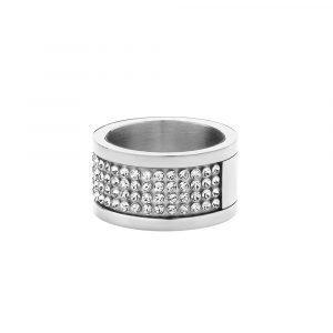 Dyrberg / Kern Emily Sormus Shiny Silver Crystal