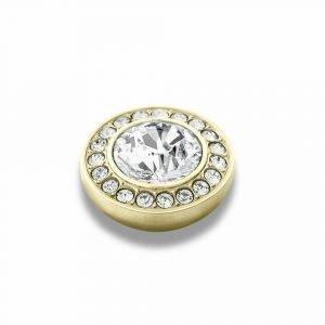 Dyrberg / Kern Grace Toppings Sormus Kulta / Valkoinen