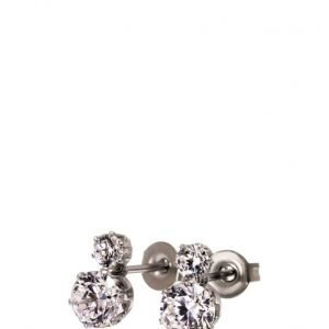 Edblad Crown Studs Double Steel korvakorut