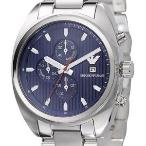 Emporio Armani AR5912 Kronografklocka blå urtavla
