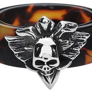 Etnox Brown Skull Ring Sormus
