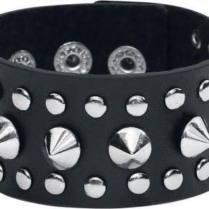 Etnox Hard And Heavy Steel Studs Bracelet Nahkaranneke