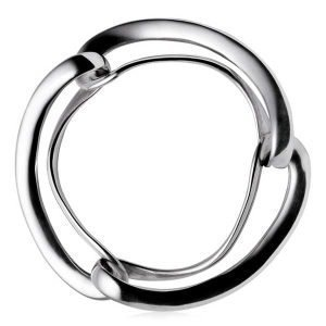 Georg Jensen Infinity Rannekoru Silver Bangle Small / Medium