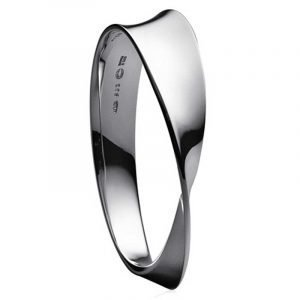 Georg Jensen Möbius Rannekoru Silver Bangle Small / Medium