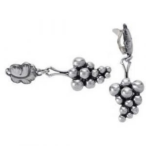 Georg Jensen Moonlight Klipsit Hopea