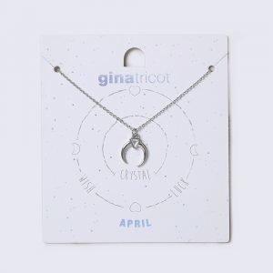 Gina Tricot April Crystal Birthstone Necklace Kaulakoru
