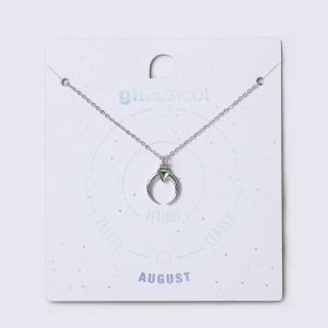 Gina Tricot August Green Birthstone Necklace Kaulakoru