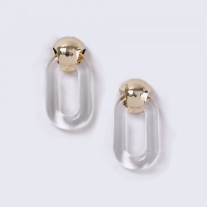 Gina Tricot Clear Door Knocker Earrings Korvakorut