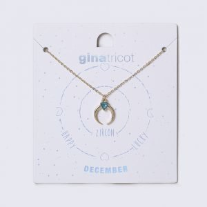 Gina Tricot December Blue Birthstone Necklace Kaulakoru