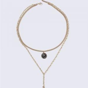 Gina Tricot Enamel Disc Necklace Kaulakoru