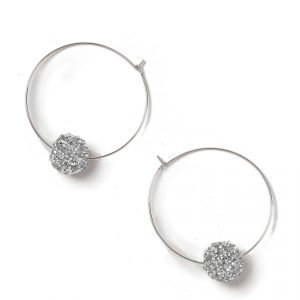 Gina Tricot Gold Look Ball Hoop Earrings Korvakorut