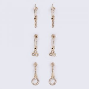 Gina Tricot Gold Look Charm Hoop Multipack Earrings Korvakorut